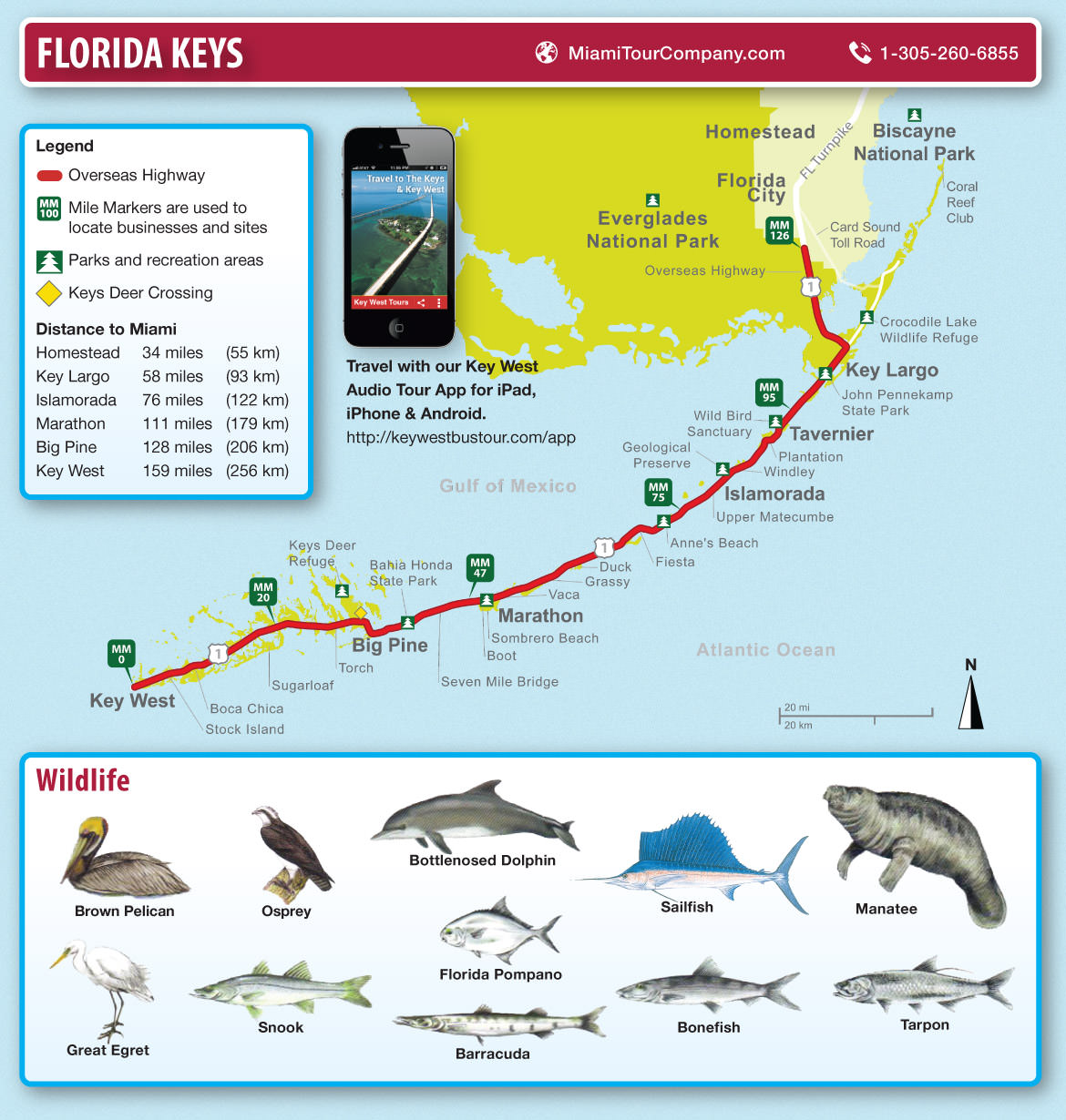 Map of florida keys and key west