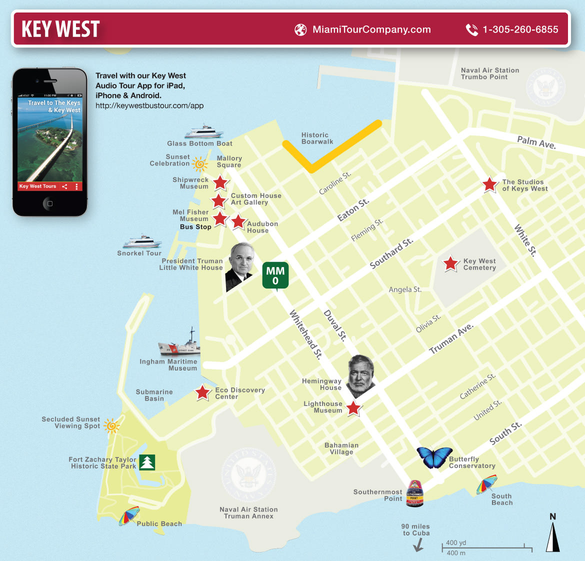 Carte des Key West