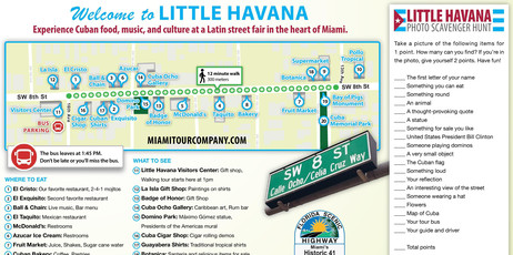 Little Havana Map With Scavenger Hunt