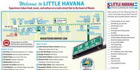 Little Havana Map With Scavenger Hunt