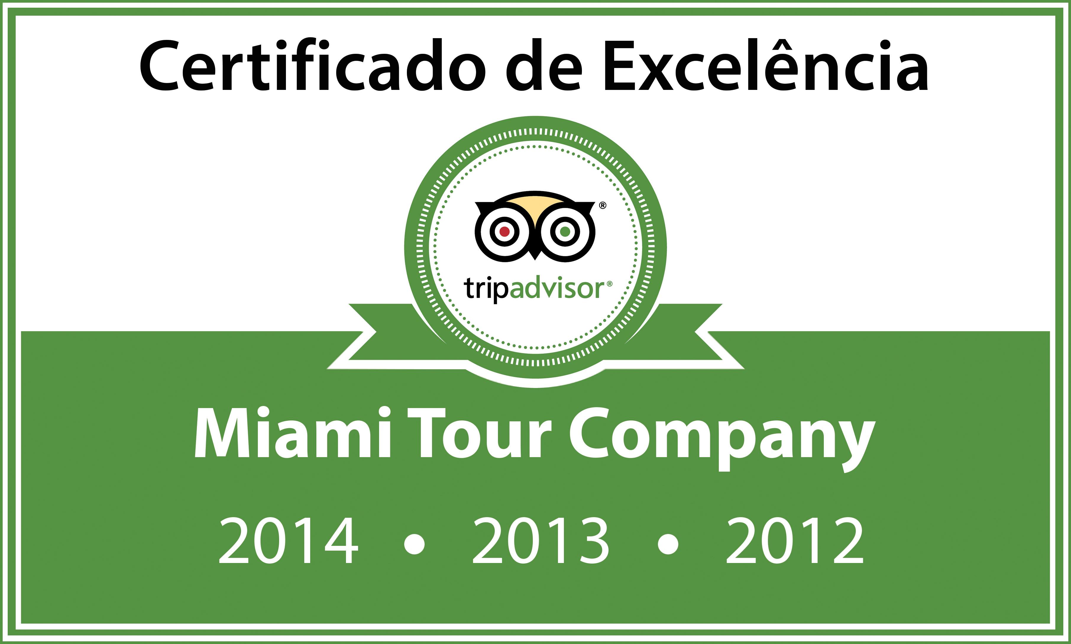 TripAdvisor Certificado de Excelência pela satisfação do cliente