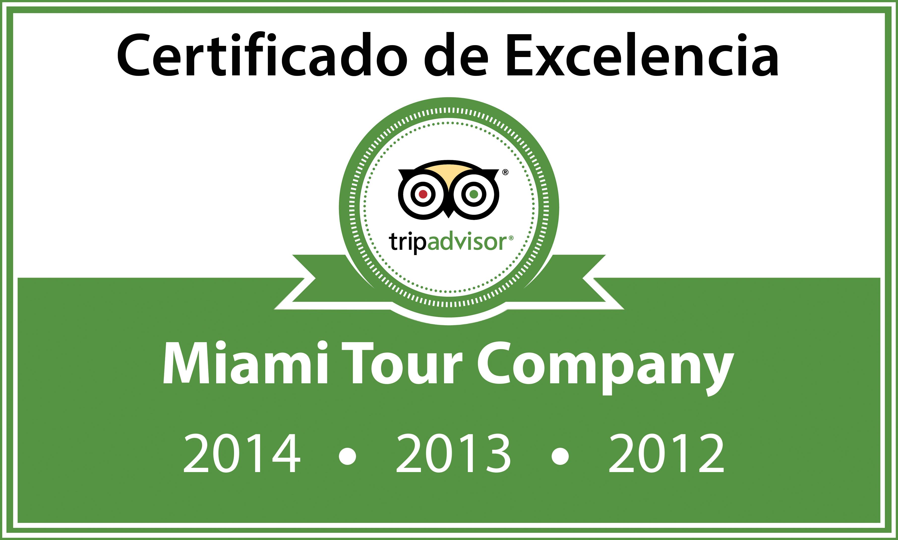 TripAdvisor Certificado de Excellencia por satisfacción a clientes