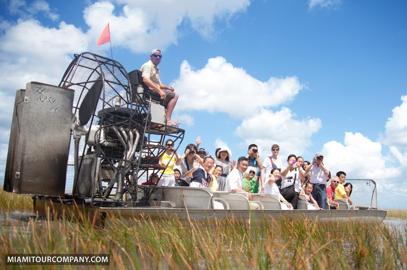 Miami Everglades tour group