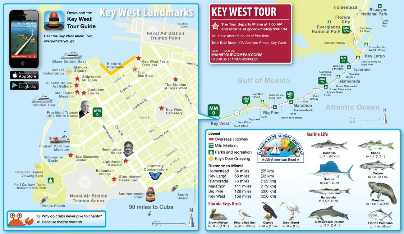 Florida Casinos Map.Key West 1 Day Tour